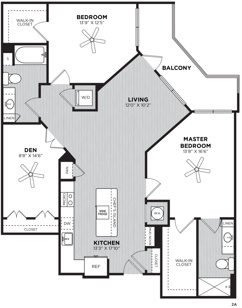 two-bedroom apartments