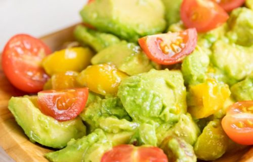 decadent truffle oil avocado tomato salad