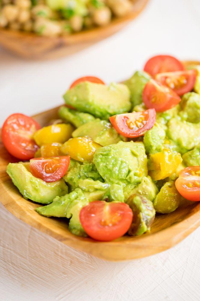decadent truffle oil avocado tomato salad