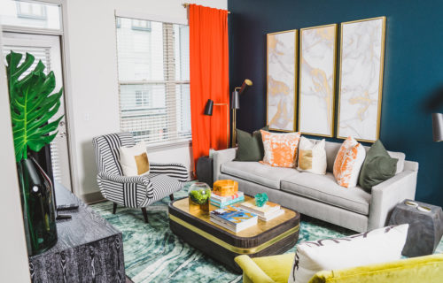 luxury apartment interior at Alexan Buckhead Village - Style and Serenity in Our Atlanta Apartments