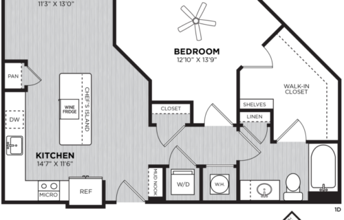 Lanson one-bedroom at Alexan Buckhead Village - Get Comfy and Happy
