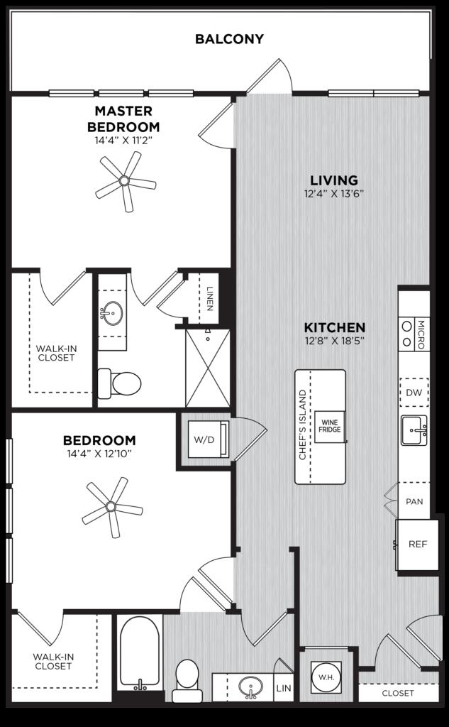 Two-Bedroom at Alexan Buckhead Village