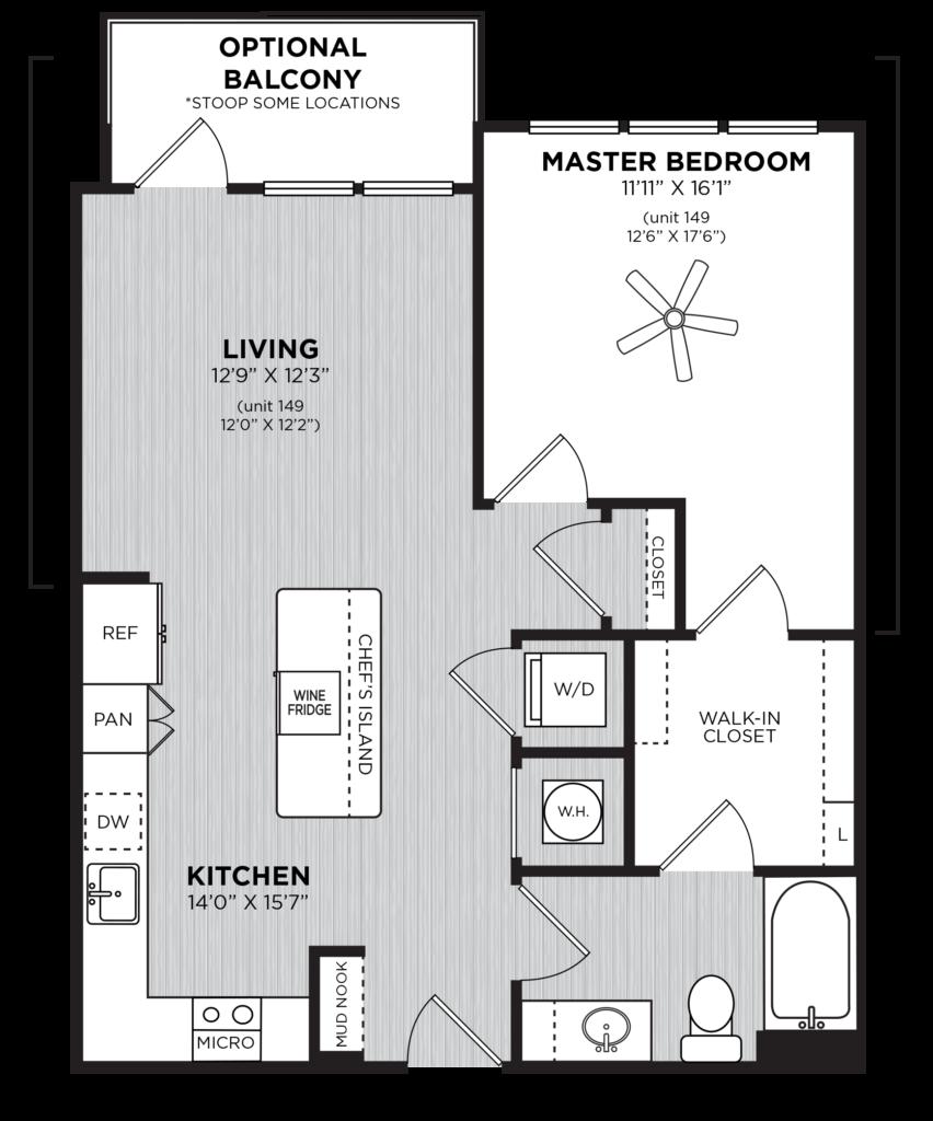 one-bedroom apartments in Atlanta